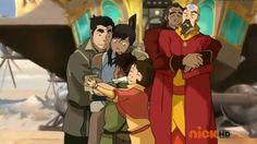 Legend of Korra: group hug!!