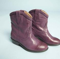 Purple Frye cowboy boots at Red Balloon