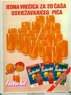 fla-vor-aid #Yugoslavian #ad #softdrink