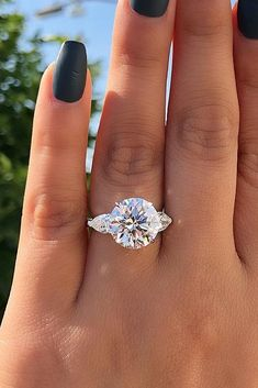 Engagement Rings - Ring trends change every year. Look at the gallery with the 60 TOP engagement ring photos. Only hottest engagement ring trends! Princess Cut Engagement Rings, Beautiful Engagement Rings, Engagement Ring Cuts, Vintage Engagement Rings, Solitaire Engagement, Engagement Tips, Cushion Cut Engagement, Round Diamond Engagement Rings, Wedding Engagement