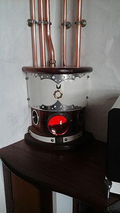 Steampunk lantern / wood-fired central heating pump housing by bluesun / gary.a.ayres