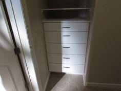 White 5 drawer closet built in WeOrganize-U.com