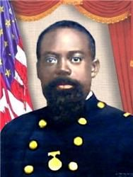 Sergeant Carney, a Norfolk native, and his men were members of the famed 54th Massachusetts Volunteer Regiment felled during the battle to capture Fort Wagner from Confederate forces on July 18, 1863.  When the color bearer was killed, Carney picked up the colors and led the attack on the Fort, though he himself was wounded several times.    For his singular act of bravery, Carney became the first African-American to earn the Congressional Medal of Honor.