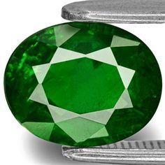 2.43-Carat Chrome Green Oval-Cut Kenyan Tsavorite Garnet