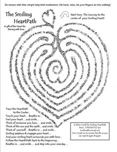 Heart path labyrinth.