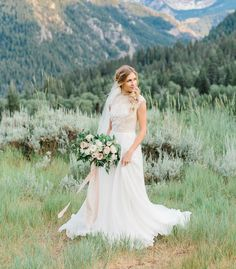 modest wedding dress with cap sleeves from alta moda. -- (modest bridal gown) photo by alyssia baird