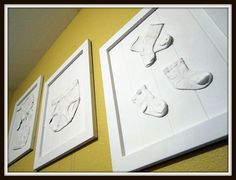 ~Laundry Wall Art - Precious baby clothes on display...White art