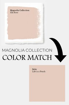 Magnolia Paint Colors Matched to Behr is part of Living Room Paint Joanna Gaines - Get your favorite Magnolia paint colors from Behr at your local Home Depot I've matched their entire Market Collection for you, so you can get painting! Peach Paint Colors, Magnolia Paint Colors, Fixer Upper Paint Colors, Nursery Paint Colors, Matching Paint Colors, Bathroom Paint Colors, Kitchen Paint Colors, Home Depot Paint Colors, Neutral Paint