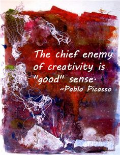 Creativity quote by picasso, art by Lucretia Coleman