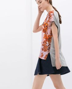 Image 3 of COMBINED PRINTED T-SHIRT from Zara