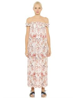 MOTHER OF PEARL LYDIA FLAMINGO SILK GEORGETTE DRESS - LUXURY SHOPPING WORLDWIDE SHIPPING – FLORENCE
