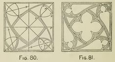 Arches - Centers - Windows and Door-Heads - fig, radius, arch, draw, circle, shown, equal, center, square and figure