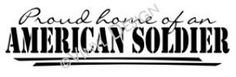 American soldier military decal