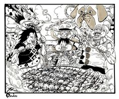 Dragon, Luffy, Garp