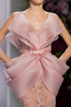 Romantic Pastel Flora Bow Trend Ralph and RussoSpring Summer 2014 #couture #fashion