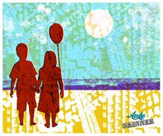 LOVE! A day at the beach, Andy Skinner Stencil and Decoart Traditions acrylic Gelli Plate Print