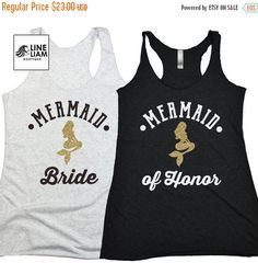 BRIDE SALE mermaid bride, mermaid shirts, bridesmaid shirt, bachelorette tanks…