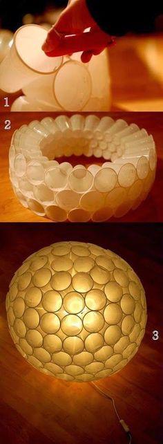 DIY : Plastic Cup Lamp