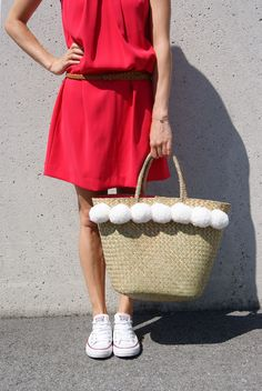 THE STRAWBAG Hi Gorgeous, Straw Bag, Summer, Bags, Fashion, Handbags, Moda, Summer Time, Fashion Styles