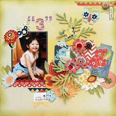 Layout by Iris Babao Uy the BasicGrey Branch with Leaves and Layered Tag dies. Birthday Scrapbook, Baby Scrapbook, Scrapbook Paper Crafts, Scrapbook Cards, Scrapbook Designs, Scrapbooking Layouts, Smash Book Pages, Photo Layouts, Scrapbook Journal