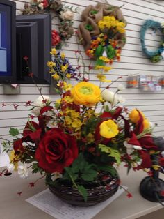 781 best michaels floral designers images on pinterest floral custom order laura a 2015 tulsa michaels yellow flowerssilk mightylinksfo