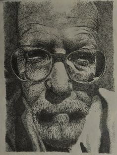realistic stippling drawing by niki skelton, Very close attention to detail by the artist. Great stippling drawing.