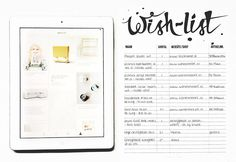 Free printable, wish-list. Now on my blog: http://femkeverspaget.blogspot.nl/