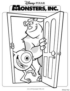 monsters inc coloring pages pdf monsters inc coloring pages preview coloring kids pinterest baby boy quilts disney christmas and bubble guppies