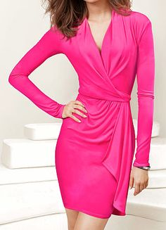 💖Victoria's Secret Pink Wrap Bed Dress is brand new. It's like a soft jersey material. Dress is stretchy. Hot pink and beautiful! Sexy Night Outfit, Night Outfits, Victoria Secret Dress, Victoria Dress, Pink Fashion, Love Fashion, Sweet Fashion, Winter Fashion, Rosa Style
