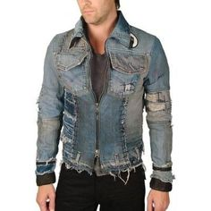 Shop the most sought after designer fashion. Custom pieces, made to order, as well as a selection of some of the most hard to find luxury goods. Denim Jacket Men, Denim Coat, Denim Jeans, Leather Jacket, Cargo Jacket, Bomber Jacket, Shoes With Jeans, Fashion Night, Stylish Men