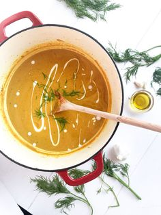 This vegan butternut squash soup is a classic recipe my mom makes every fall. It's the perfect mix of hearty seasonal veggies and smooth coconut cream. Gluten Free Recipes For Dinner, Dairy Free Recipes, Photography Composition, Food Photography, Sin Gluten, Vegan Butternut Squash Soup, Squash Varieties, Classic Recipe, Coconut Cream
