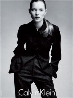 Kate Moss, Calvin Klein, 1990s.