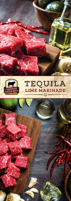 Certified Angus Beef®️️ brand Tequila Lime Marinade takes the strong flavor of tequila and combines it with lime, garlic, and olive oil for a DELICIOUS marinade! Marinate your favorite cut of beef for just 2 to 4 hours for the best results. #bestangusbeef #certifiedangusbeef #marinade #seasoning