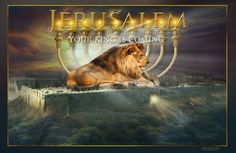Jerusalem: Your King is Coming, Created December 3, 2012 ~ Prophetic Art of James Nesbit
