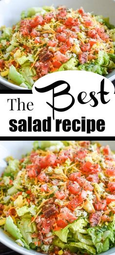 This made a HUGE difference in the salad: Cutting it like she says and adding the garlic powder and basil! SO SO GOOD! This made a HUGE difference in the salad: Cutting it like she says and adding the garlic powder and basil! SO SO GOOD! Side Salad Recipes, Salad Dressing Recipes, Dinner Recipes, Healthy Recipes, Easy Recipes, Salad Dressings, Pizza Recipes, Summer Salad Recipes, Keto Recipes