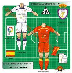 Real Jaen CF of Spain kits for Football Kits, Spain, Logos, Shirt, Soccer Kits, Soccer Equipment, Dress Shirt, Sevilla Spain, Logo