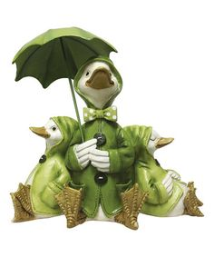 Look what I found on #zulily! Quacking In The Rain Figurine #zulilyfinds