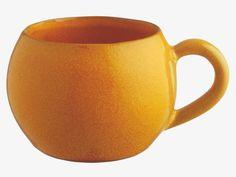 PINYA YELLOW Terracotta Yellow reactive glaze mug - HabitatUK