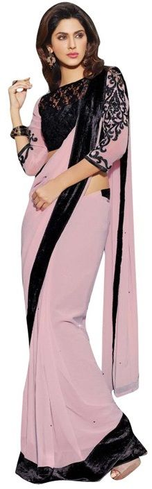 Best Farewell #Sarees from #Snapdeal for College Graduates - Lookslady Stunning Georgette Saree