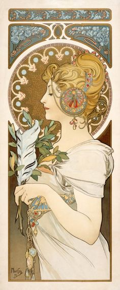 Feather by Alphonse Mucha