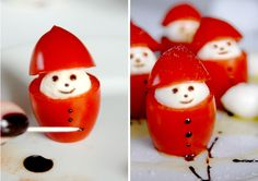 Christmas Food – Miss Happy (Best Christmas Snacks) – Nonperest - Obst Party Finger Foods, Snacks Für Party, Cute Food, Good Food, Yummy Food, Food Carving, Christmas Snacks, Party Buffet, Food Decoration