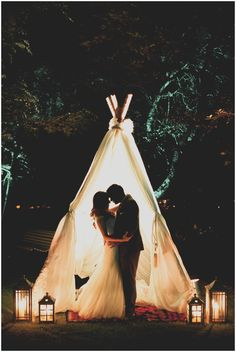 www.vanillaphotography.co.za Nooitgedacht Wine Estate | Cape Town, Wedding venue, Cape Town wedding photographer, outdoor wedding decor, teepee, bride & groom, kiss, night shot
