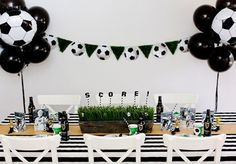 Kick start the FIFA World Cup tournament with a viewing party sports rivals can all enjoy together. Soccer Birthday Parties, Football Birthday, Soccer Party, Sports Party, Birthday Party Themes, Sports Birthday, Football Soccer, Birthday Ideas, Soccer Baby Showers