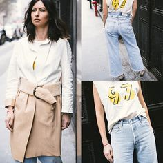 Get this look: http://lb.nu/look/8646429  More looks by Ewa Sleszynski: http://lb.nu/urbancreativitea  Items in this look:  Re Done Jeans, Isabel Marant Shoes, Dolce & Gabbana Belt, Bally Coat, 6397 Top   #street #vintage #photooftheday #lookoftheday #outfitoftheday #potd #lotd #ootd #fashion