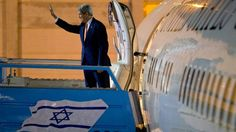 In this Nov. 24, 2015 file photo, U.S. Secretary of State John Kerry waves as he boards the plane on departure from Israel after meetings in Jerusalem and the West Bank city of Ramallah.