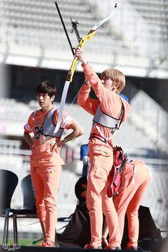 130903 MBC Idol Star Athletics Championship Recording //  Infinite Sungjong L myungsoo