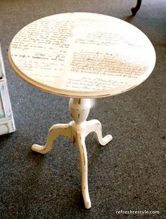 Maybe this on the top level of the telephone table! Or with music sheets!