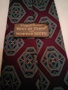 Robert Talbott Best of Class for Norton Ditto 100% Silk Mens Tie Printed in Ital #RobertTalbottBestofClass #NeckTie