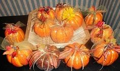 favors for a fall bridal shower you can make yourself.. create a pumpkin patch and let your guests pick their own