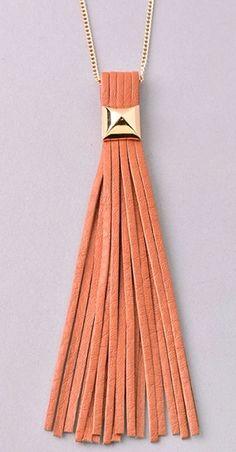 Magnolia Mill Leather Tassel Necklace